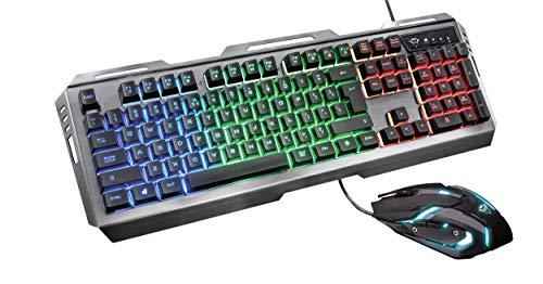 Trust GXT 845 Tural Gaming Tastatur und Maus, schwarz