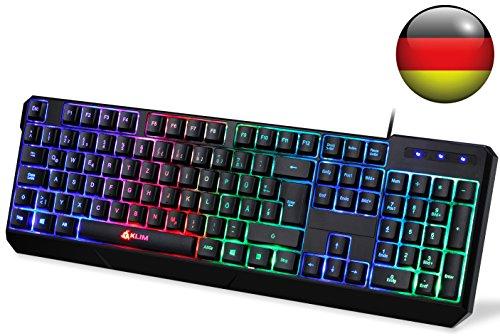 KLIM Chroma Tastatur Gamer QWERTZ Deutsch mit USB Kabel...