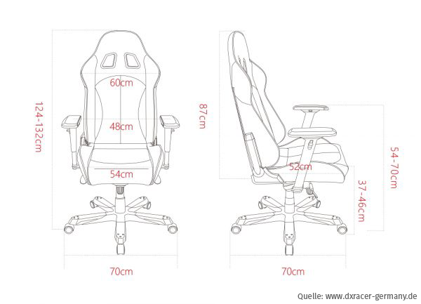 dxracer king series - massangaben