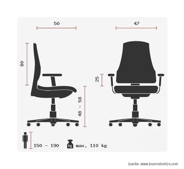 hjh OFFICE Racer Gaming Chair - massangaben