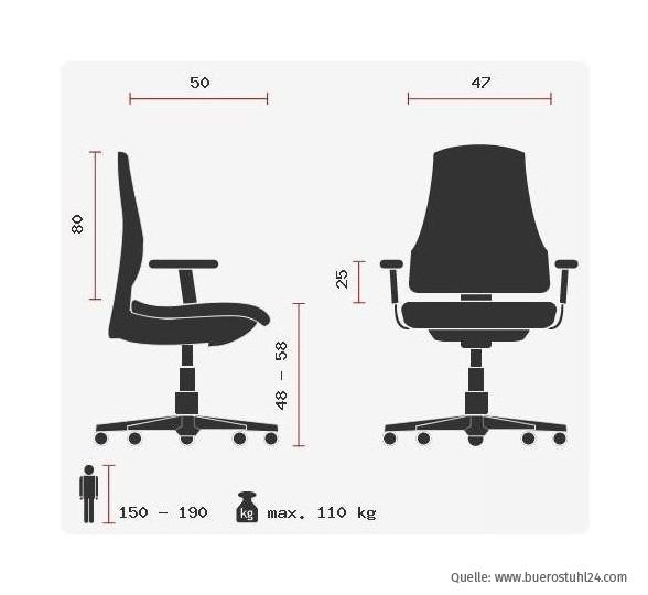hjh OFFICE Racer Gaming Chair - massangaben