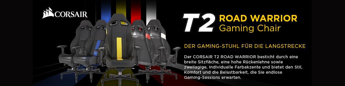 Corsair T2 Road Warrior Gaming Chair Übersicht